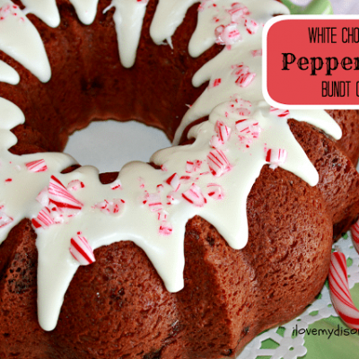 White Chocolate Peppermint Bundt Cake