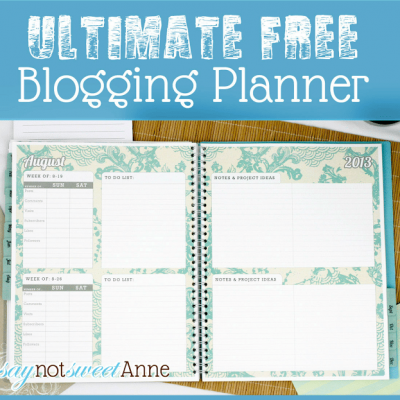 The Ultimate Blogging Planner {review}