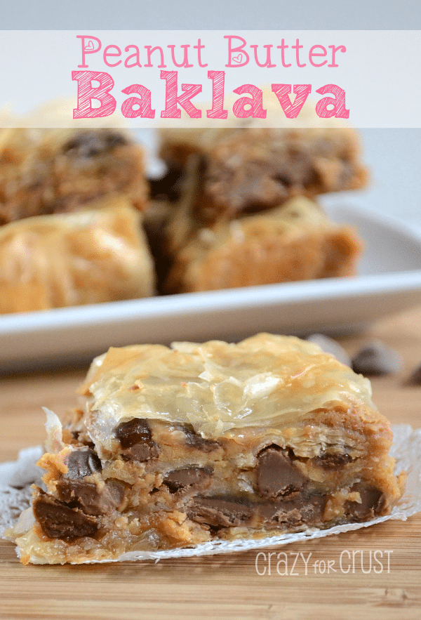 Peanut Butter Baklava/Crazy for Crust #baklava #chocolate #oeanutbutter