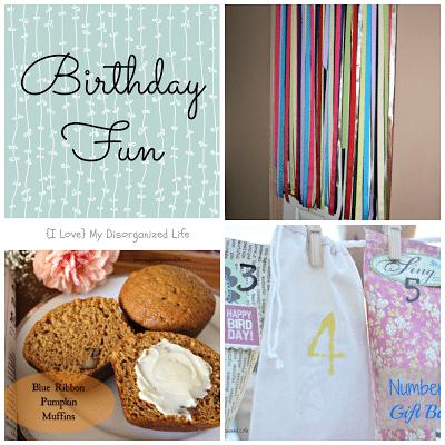 Birthday Morning Fun/ {I Love} My Disorganized Life