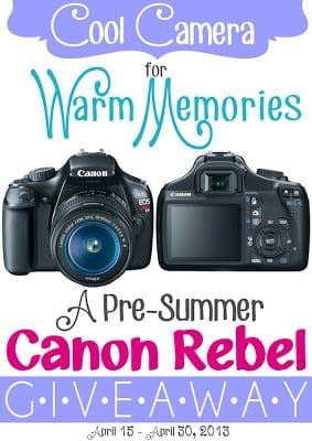 Canon Rebel Giveaway/ {I Love} MY Disorganized Life