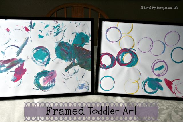 Framed Toddler Art/ {I Love} My Disorganized Life