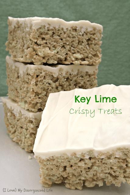 Key Lime Crispy Treats/ {I Love} My Disorganized Life