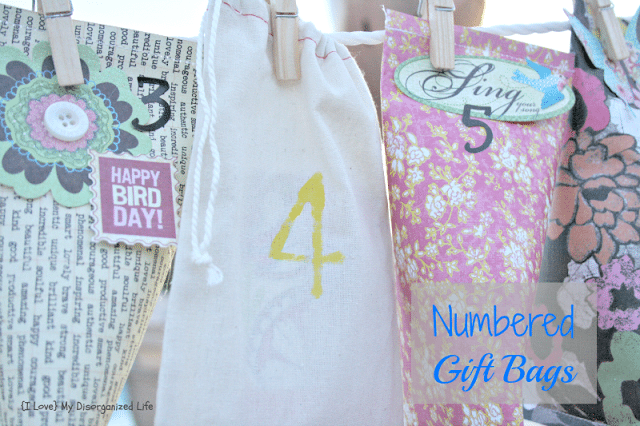 Numbered Gift Bags/ {I Love} My Disorganized Life