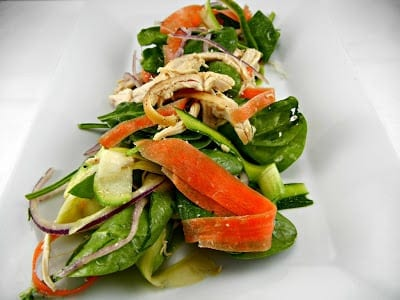 Ribbon Salad with Shredded Chicken/ The Tasty Fork