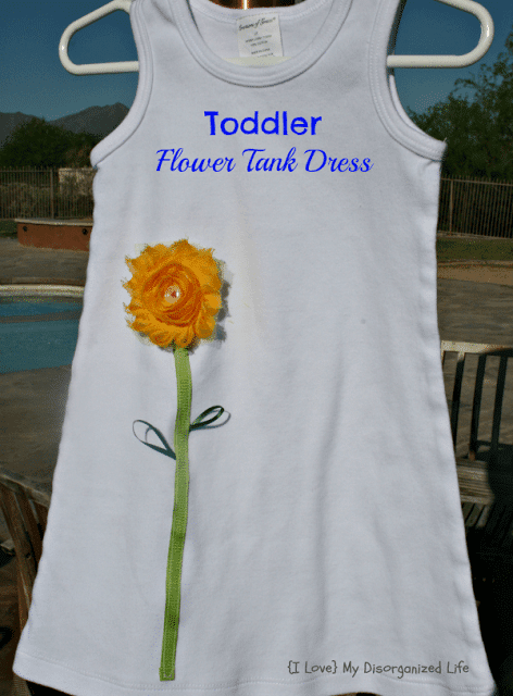 Toddler Flower Tank Dress/ {I Love} My Disorganized Life