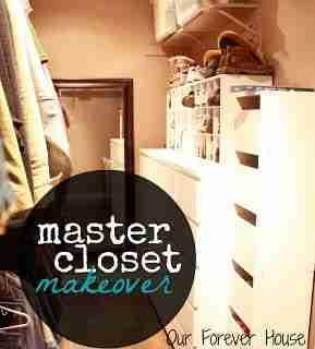 Master Closet Makeover/ Our Forever House
