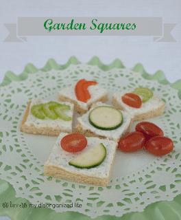Garden Squares/ {i love} my disorganized life #BrunchWeek #creamcheese