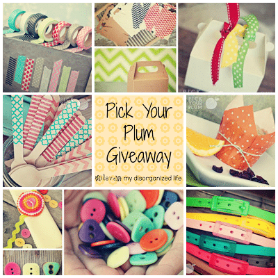 Pick Your Plum Giveaway/ {i love} my disorganized life