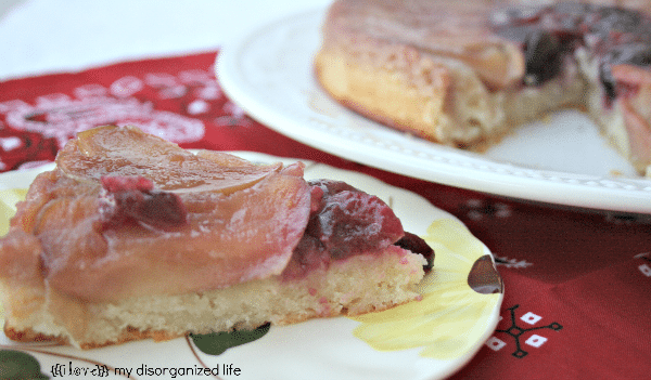 Apple Cherry Upside Down Cake {i love} my disorganized life