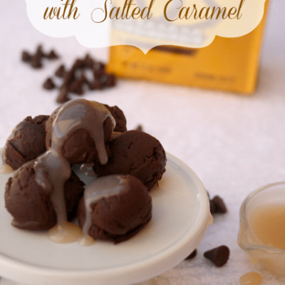 Dark Chocolate Coffee Truffles with Salted Caramel