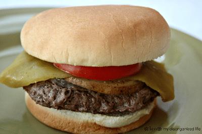 Green Chili Burgers {with onion & potato}