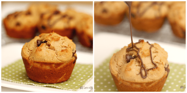 Peanut Butter Chocolate Chip Muffins {i love} my disorganized life #peanutbutter #muffins #chocolatechip