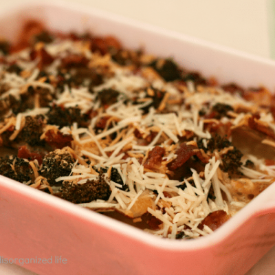 #BaconMonth: Bacon & Broccoli Potatoes Au'Gratin