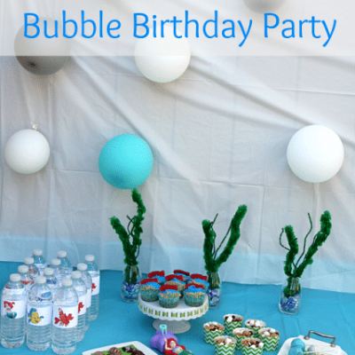 The Little Mermaid Bubble Birthday Party