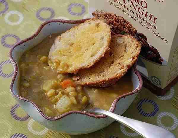 Farro Split Pea Soup
