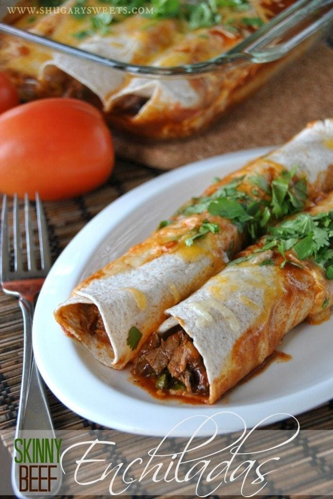 Skinny Beef Enchiladas