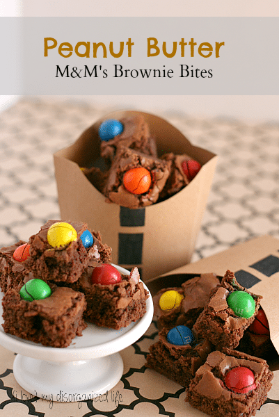 Peanut Butter M&M's Brownie Bites #shop #FueledByMM #Xbox #Forza4 #snack