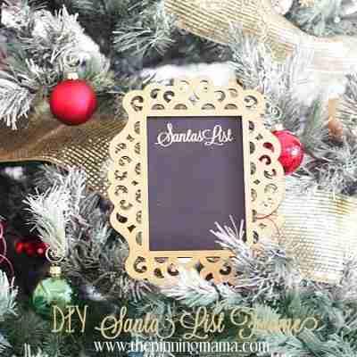 'Santa's List' Frame