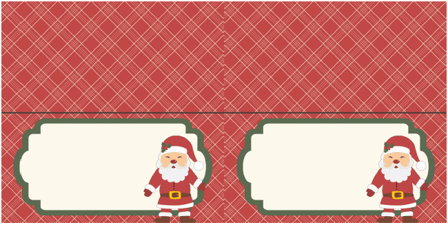 5x5 Foldable cards that can be used as gift cards, place cards, or buffet cards