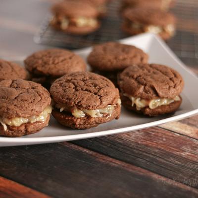 German Chocolate Cake Sandwich Cookies