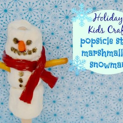 Popsicle Stick Marshmallow Snowman