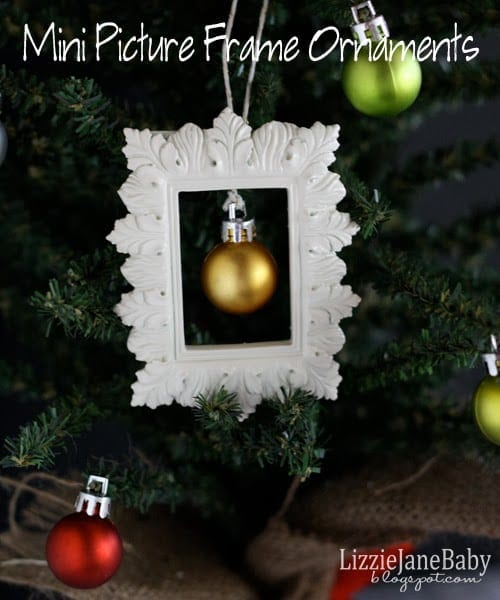 Christmas Tree Ornament Year 2013 Picture Photo Frame Gold Rectangle NEW