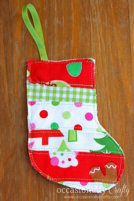 Scrappy Stocking Ornament - {25 Days of Christmas}