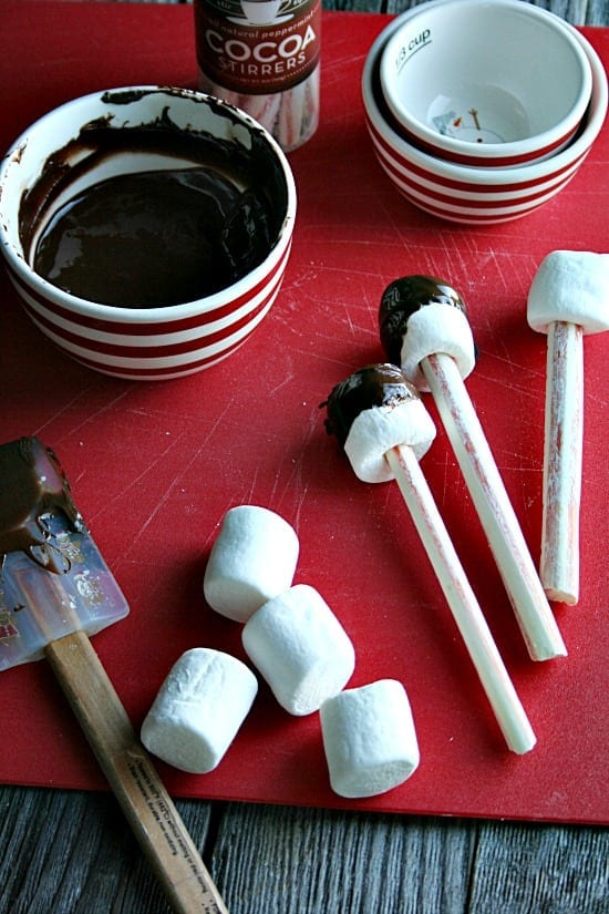 chocolate maarshmallow peppermint cocoa stirs