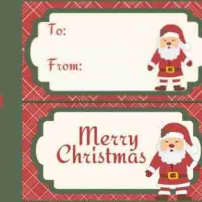 Santa Gift Tag Printables