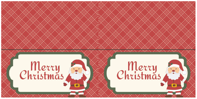 Fold-able Merry Christmas 5x5 Gift Cards