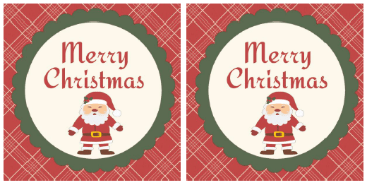 3x3 Square Merry Christmas Gift Tags, can also print on labels to stick on