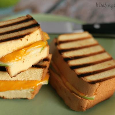 Apple Cheddar Pound Cake Sandwich