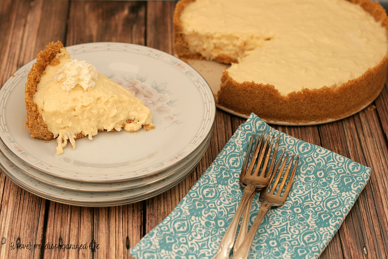 Coconut Cream Cheese Pie - {i love my disorganized life