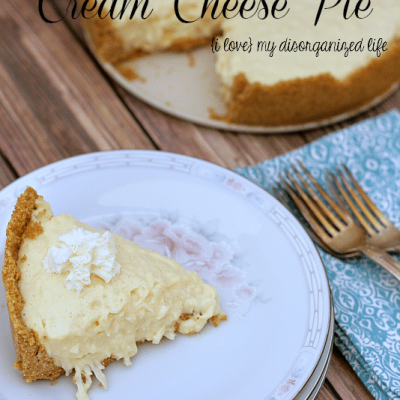 Coconut Cream Cheese Pie #PiDay