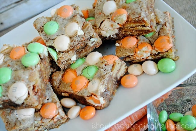 carrot cake m&m bars