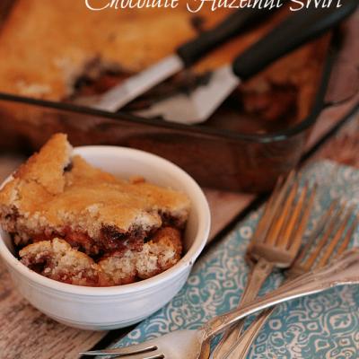 Strawberry Cobbler with Chocolate Hazelnut Swirl