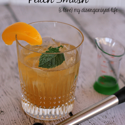 Elderberry Whiskey Peach Smash