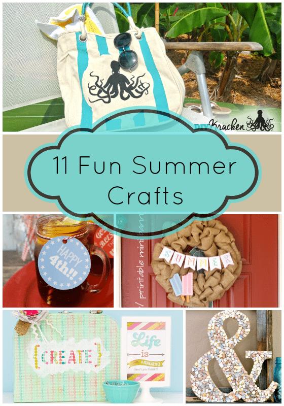 11 Fun Summer Crafts #wednesdaywhatsits #features #summercrafts