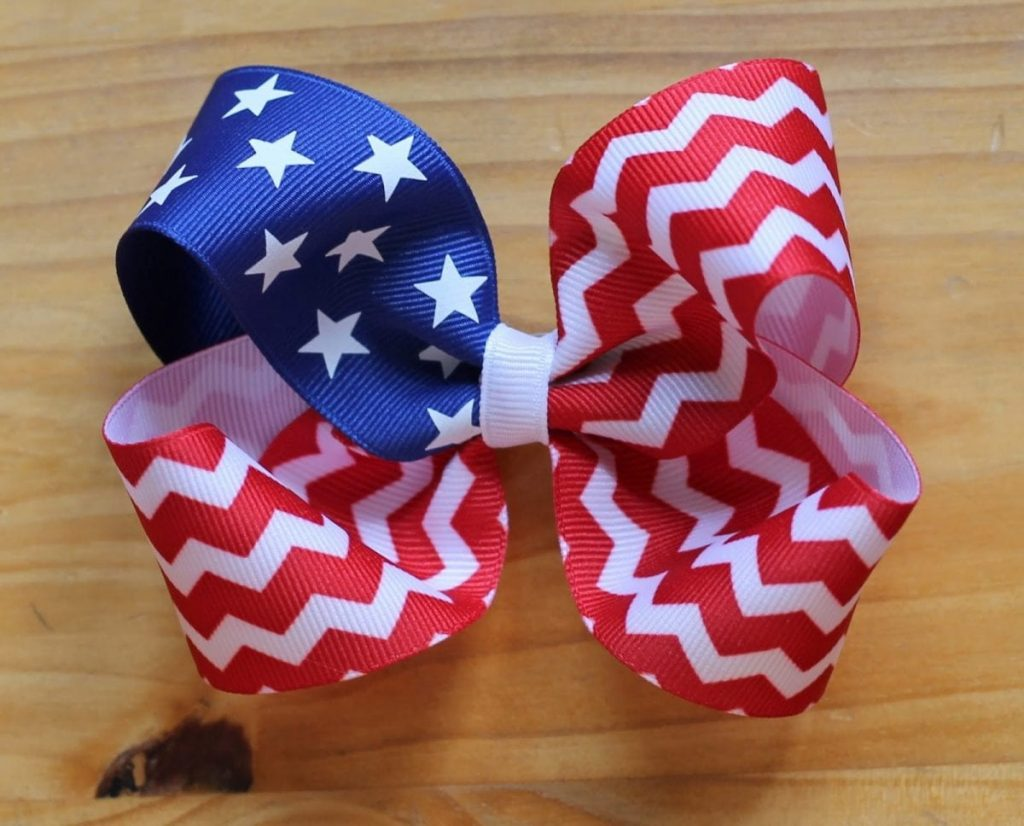 flag hair bow for red white and blue recipes crafts roundup