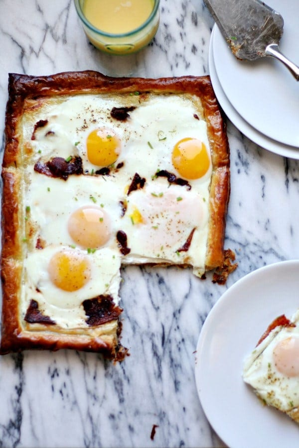 Bacon and Egg Puff Pastry Breakfast Tart