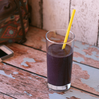 Black and Blue Berry Vanilla Protein Smoothie