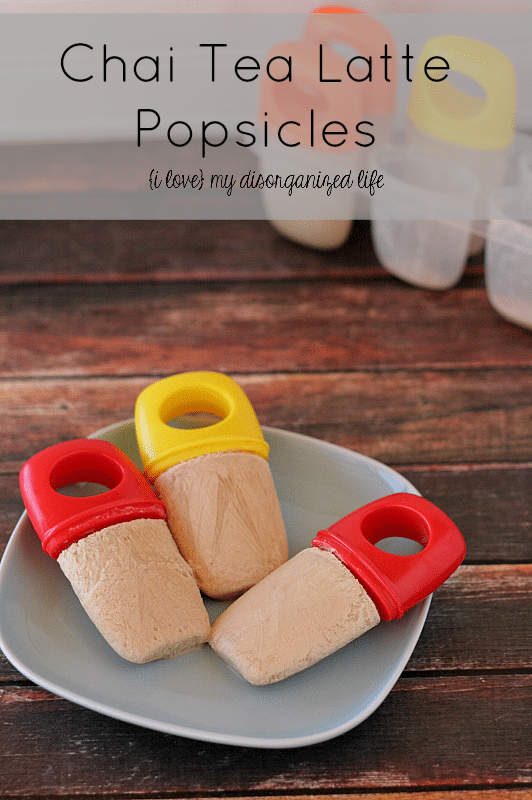 Chai Tea Latte Popsicles - Made with real Chai tea and cream, so refreshing!