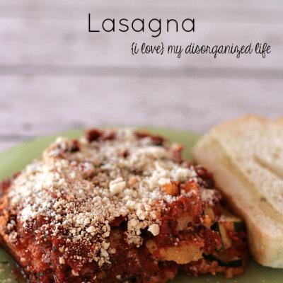 Gluten Free Polenta and Zucchini Lasagna