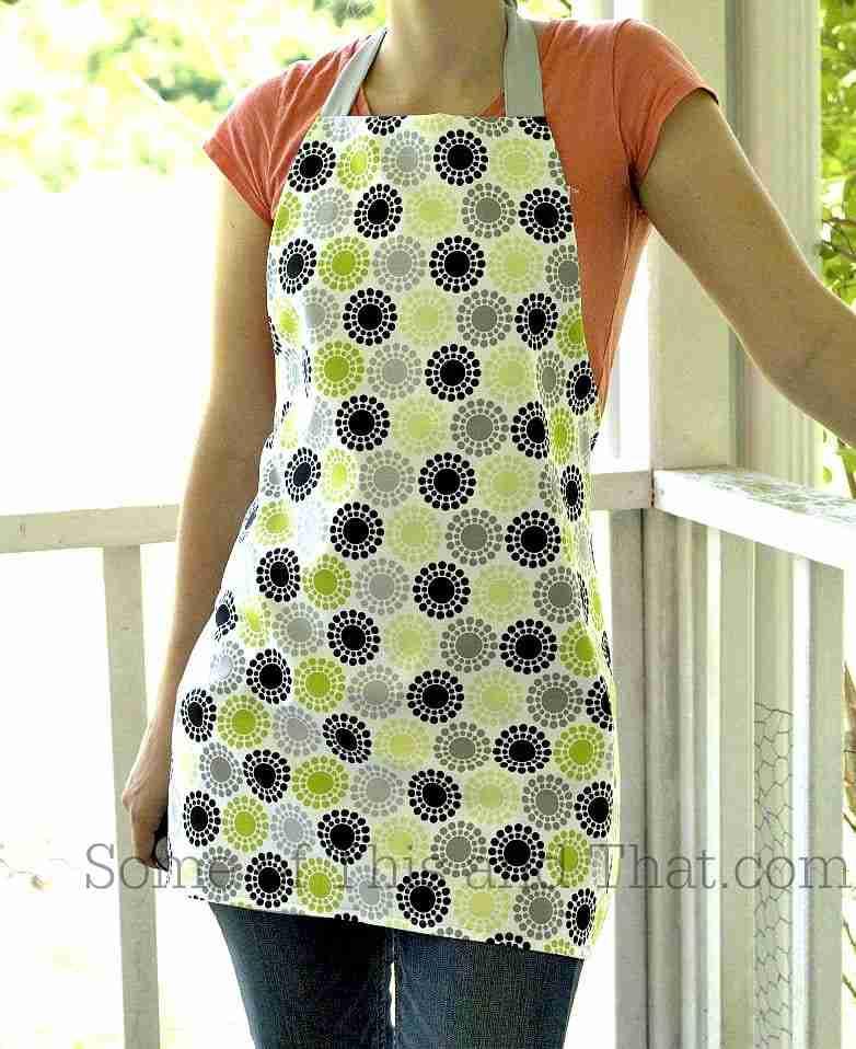 DIY reversable apron