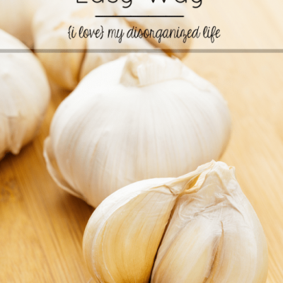 Peel Garlic the Easy Way