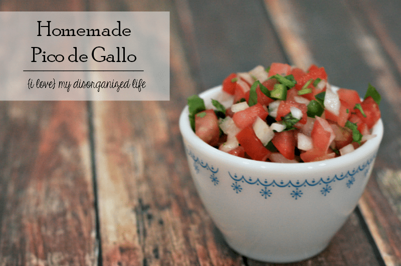 Homemade Pico de Gallo is full of spicy flavor and perfect for tacos, nachos or even fish!