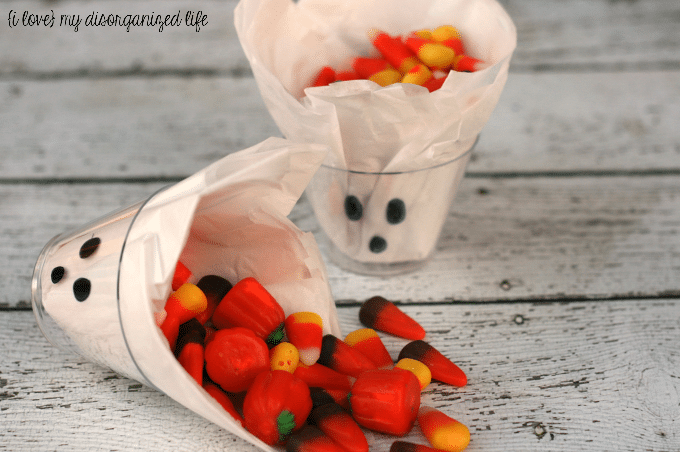 Ghost treat cups