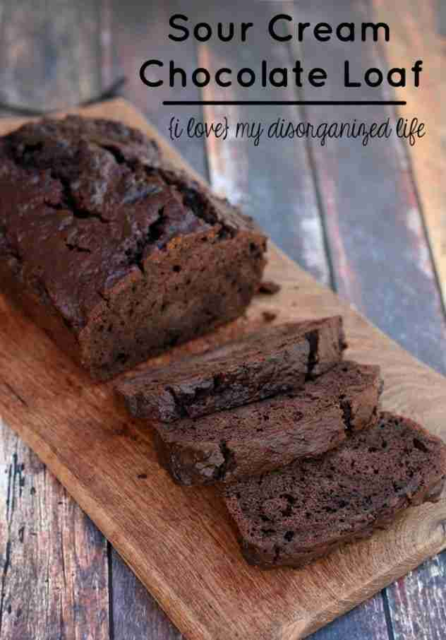 Sour Cream Chocolate Loaf Cake made with Monk Fruit In The Raw. Sacrifice sugar, not flavor! #MonkFruitInTheRaw #sponsored #MC @InTheRawBrand