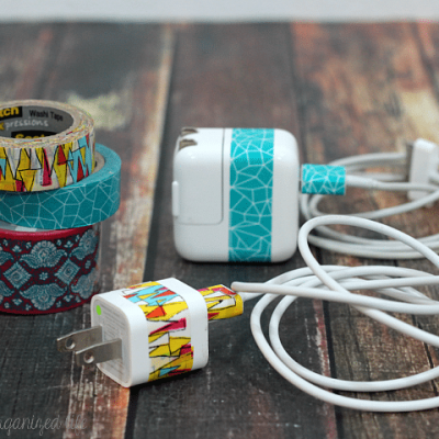 Identify Your Cords with Washi Tape